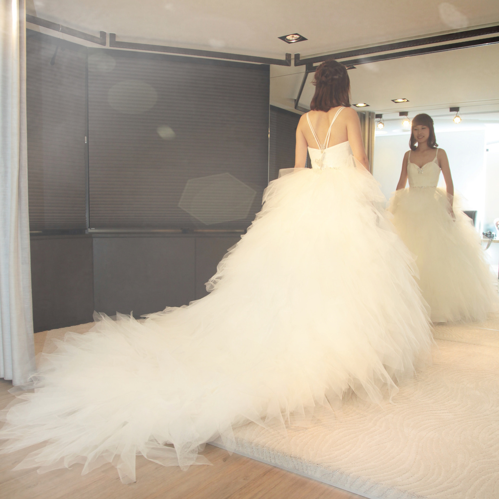 【婚紗試穿】金紗夢婚紗~每個女孩最漂亮的一天就是穿上新娘白紗那一刻~