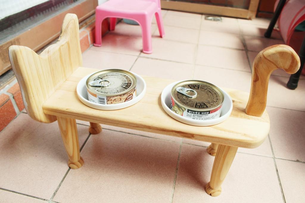 寵物貓咪狗狗餐桌 【寵物-貓咪餐桌】咕嘰咕嘰小喵餐桌 貓咪的碗 貓狗餐桌.寵物家具 訂製貓咪餐桌